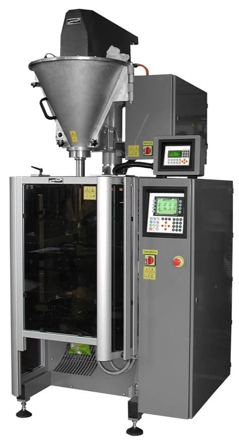 Вертикальная фасовочная машина ASTRO со шнековым дозатором для фасовки и упаковки сыпучих пылящих продуктов (мука, специи и т.п.)