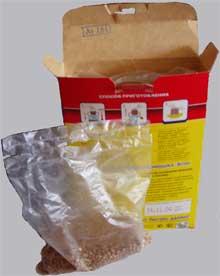 Линия для расфасовки крупы в варочные пакеты с последующей укладкой пакетов в картонную коробку